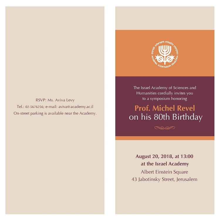 A Symposium honoring Prof. Michel Revel on his 80th Birthday