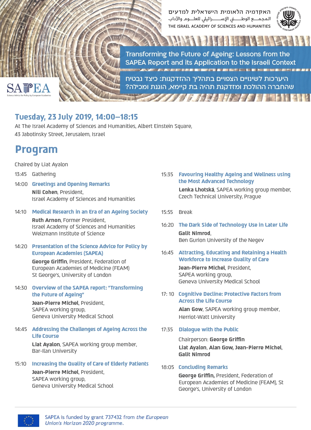 Transforming the Future of Ageing: Lessons from the SAPEA Report and it's Application to the Israeli Context